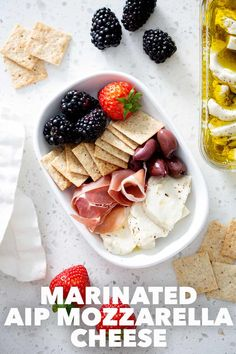 Use this Marinated AIP Mozzarella Cheese recipe as the base for any charcuterie board. It's a delicious and simple recipe that is sure to impress your Whole30, Paleo/AIP and dairy free peeps. Recipes With Mozzarella Cheese, Cheese Recipes, Paleo Recipes, Dessert Recipes, Brunch Recipes, Gluten Free Appetizers, Healthy Appetizers, Real Cooking, Paleo Sauces