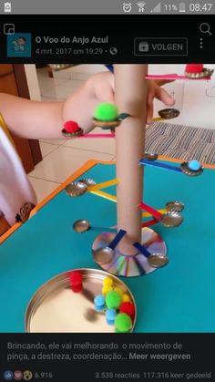 Fine motor caps and pomskids have fun threading straws Fun Activities For Toddlers, Motor Skills Activities, Gross Motor Skills, Infant Activities, Preschool Activities, Preschool Education, Preschool Crafts, Crafts For Kids, Childhood Education