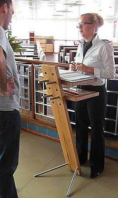Die Möbelmacher stehpult designmöbel aus antikem holz woodesign auf dawanda