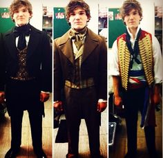 Fra Fee as Marius, Enjolras and Prouvaire Repinning this because it has a great look at all of the costumes this awesome guy
