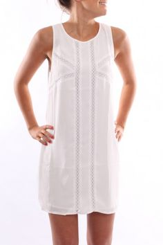Crossed Paths Dress White - Dresses - Shop by Product - Womens