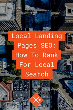 If you are a local business, you need to optimize for local SEO. Local landing pages help to rank for nearby searches. But, what goes into a local landing page? Local Seo, Search Engine Optimization, Landing, Infographic, Digital, Business, Travel, Viajes, Traveling