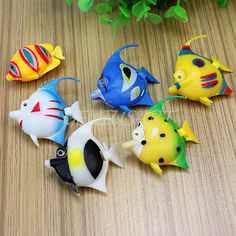 6pcs fake fish plastic #figure #children baby kids bath toy aquarium #decoration,  View more on the LINK: 	http://www.zeppy.io/product/gb/2/221670528778/