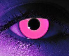 Blacklight Rave PinnkContact Lenses / Pair Non Prescription