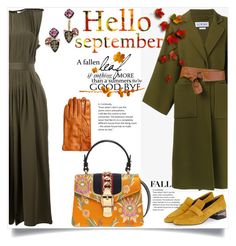 """HELLO SEPTEMBER"" by sally92 ❤ liked on Polyvore featuring Loewe, TIBI, Alexis Bittar, Topshop, I Am and Gucci"