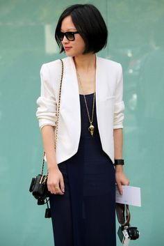 Classy black and white my favorite!