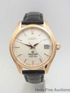 Very Rare 18k Rose Gold Grand Seiko Special Hi Beat 36000 Watch Box Papers #Seiko