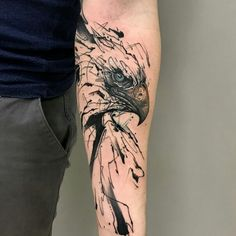 Geometric tattoos come in many shading palettes and structures. This can go from the totally unique, to an alternate sort of understanding of a popular picture. We have collected the best geometric tattoos for guys Tattoos 3d, Eagle Tattoos, Wolf Tattoos, Trendy Tattoos, Animal Tattoos, Body Art Tattoos, Tattoos For Guys, Small Tattoos, Tattos