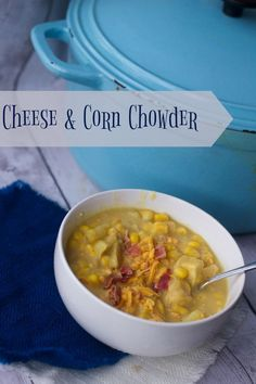 Simple and Comforting Cheddar Corn Chowder Recipe Comfort food with this easy soup recipe. (scheduled via http://www.tailwindapp.com?utm_source=pinterest&utm_medium=twpin&utm_content=post133959491&utm_campaign=scheduler_attribution)