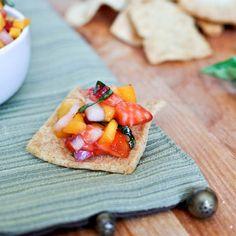Strawberry Mango Basil Salsa