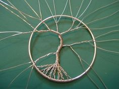 How to make a wire wrapped pendant. Wire Wrapped Tree Of Life Ornament - Step 10