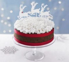Simple snow sparkle cake