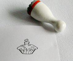 """Ministempel  """" Cupcake """"  von Webermann Aufkleber und Stempel  auf DaWanda.com"""