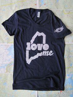 Tying the knot - Custom LoveME T-shirt wedding favors #Maine