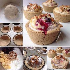 Tartaletas dulces saludables