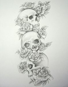 tattoo sleeve designs for girls | Free Download Skull Roses Sleeve By Daniellehope On Deviantart Design ... #tattoosforwomenhalfsleeve
