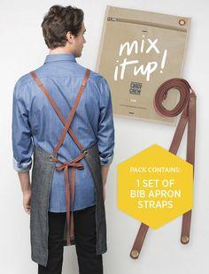'Mix It Up' Apron Straps – Tan | Cargo Crew - Staff Uniform Shop Australia