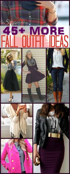 45+ MORE Fall Outfit Ideas, time to bust out the boots and scarves, get inspired with these fall outfit ideas! - ThisSillyGirlsLife.com Pinned over 96K+ times!!