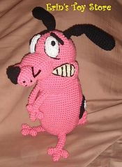 Courage the Cowardly Dog Crochet Pattern by Erin Scull