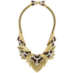 BaubleBar Firebird Collar ($68) ❤ liked on Polyvore featuring jewelry, necklaces, vintage jewelry, red jewelry, bib collar necklace, red bib necklace and collar necklace