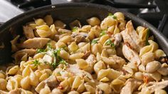 Bistro Chicken Pasta-use 1/2 cup of wine. 1 cup chicken stock. 2 cups heavy cream. I cup Parmesan cheese. 1 lb pasta. 12 turns of salt to sauce. SO good!