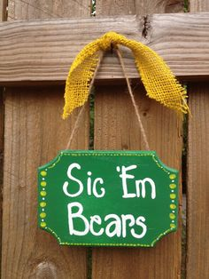 Baylor Bears Sic 'Em Hand Painted Sign by SweetPinspirations