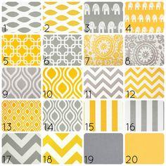Gelben oder grauen Vorhang Panels. 50 x 63 Zoll. Vorhänge. Fenster-Behandlungen. Chevron, Kettenschloss, Suzani, Ikat, Streifen, Elefanten