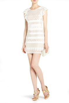 Bcbg nel lace back dress