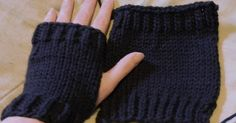 It doesn't get much easier than this lol Knit on two needles and seamed along side leaving an opening for thumb this pattern is ...