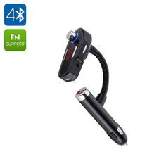 Car FM Bluetooth Transmitter - Bluetooth 4.0 HSP HFP A2DP AVRCP 2 USB Ports Aux In