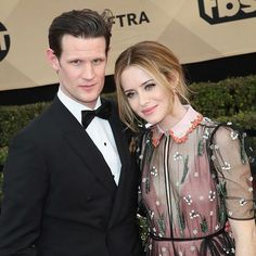 @TheCrownNetflix's power couple Claire Foy and Matt Smith strike a pose on the red carpet at the #SAGAwards2017! #HarpersBazaarSG  via HARPER'S BAZAAR SINGAPORE MAGAZINE OFFICIAL INSTAGRAM - Fashion Campaigns  Haute Couture  Advertising  Editorial Photography  Magazine Cover Designs  Supermodels  Runway Models