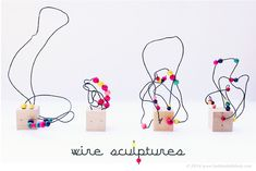 Kid Crafts: Wire Sculpture Art