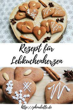Lebkuchenherzen ganz einfach selbst machen, perfekt für den Advent und die Weihnachtszeit, auch für Plätzchen geeignet. Super lecker, auch für Kinder.