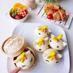 Steamed Cake, Steamed Buns, Joy Of Cooking, Asian Cooking, Cute Desserts, Dessert Recipes, Mochi Recipe, Cute Buns, Kawaii Dessert