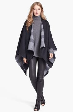 BURBERRY Reversible Merino Wool Cape. #burberry #cloth #