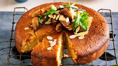 Roasted fig and plum yoghurt tea cake: Searching for a cake that's perfectly moist? Made with yoghurt and topped with figs, mint and almond, we think this is the one for you!