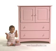 Water base furniture paint from General Finishes Milk Paint collection - color is Baby Pink from GeneralFinishes.com. Comment on this. Available at unfinished furniture stores - www.buyunfinishedfurniture.com, Rockler and Woodcraft Woodworking stores throughout U.S.