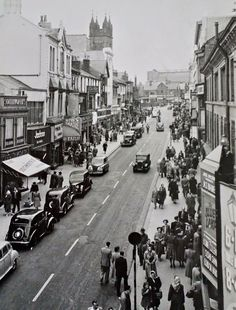 An Old Photo of the Town Centre in Blackpool Lancashire England