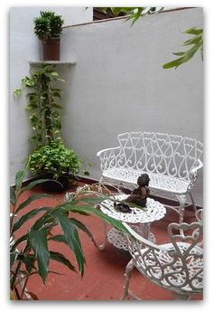 Detalle de la terraza Cuba, Planter Pots, Havana, Terrace