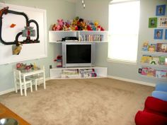 How to: decorate and create an inexpensive playroom ... from scratch. Less than a hundred dollars.