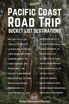 25 Amazing Stops On A Pacific Coast Highway Road Trip.- 25 Amazing Stops On A Pacific Coast Highway Road Trip Itinerary Pacific Coast Road Trip Bucket List. This includes stops in Washington, Oregon, California, and everywhere in between. Pacific Coast Highway, Highway Road, Road Trip Usa, West Coast Road Trip, Oregon Coast Roadtrip, Oregon Travel, California Travel, Road Trip Tips, Oregon Road Trip