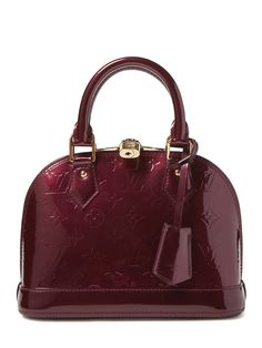 59213372fdde1 Save on the Louis Vuitton Rouge Fauviste Monogram Vernis Alma Bb Burgundy  Bag - Satchel! This satchel is a top 10 member favorite on Tradesy.