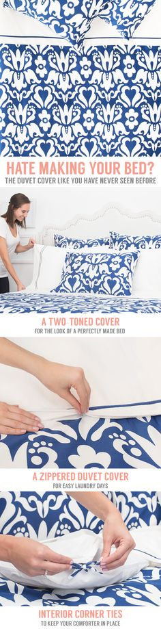 The easiest and fastest way to make your bed. As seen on the New York Times.I selected this pin for the wonderful site it represents. I will receive a small commission if you pin but it does not change the price of anything. Thank you Rose .