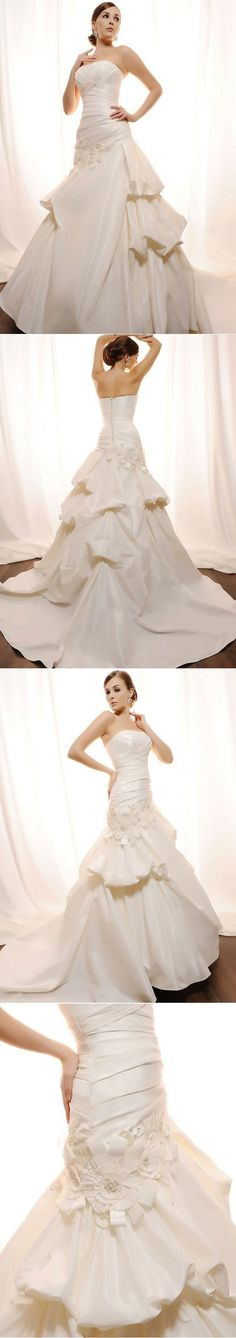 A Wedding Dress With 190 Convertible Strapless Wedding Gown Ballet Wrap Dress…