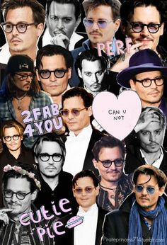 Johnny Depp collage I NEED TO DO THIS