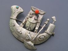 This Is A Rare Vintage Miriam Haskell Egyptian Revival
