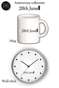 Mug Wall clock(15th June) マグ゠ップム掛け時計(6月15日