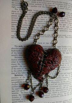 EXSANGUINATE monster heart necklace by doctormorose on Etsy, $30.00