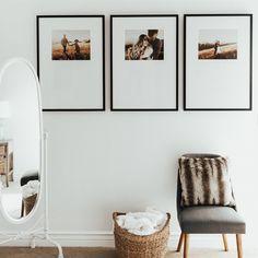 Decorar con fotos de familia: las mejores ideas vistas en Pinterest Gallery Wall Bedroom, Gallery Wall Frames, Frames On Wall, Bedroom Wall, Photos In Bedroom, Photo Gallery Walls, Ikea Gallery Wall, Kitchen Gallery Wall, Modern Gallery Wall