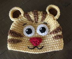 Daniel Tiger and Margaret Crochet Hats Newborn to Adult